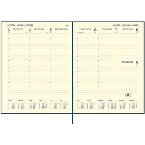 Ryam Executive 7 dagen per twee pagina's agenda creme papier