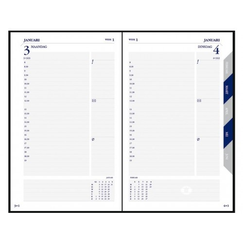 Ryam Commercial één (1) dag per pagina Agenda